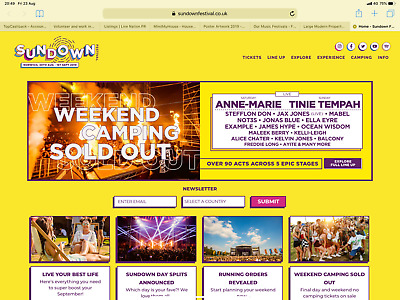 Sundown Festival Weekend Tickets x2