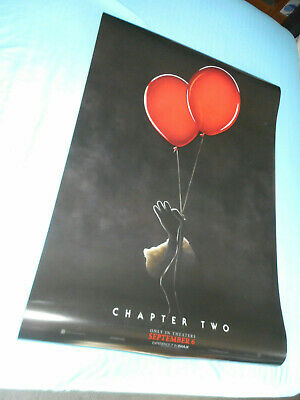 """Stephen King IT CHAPTER 2 official movie poster one sheet DS 27""""x40"""" Pennywise"""