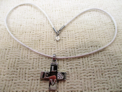 Chisel Stainless Steel Cross Love Amour Liebe Pendant Necklace Designer Jewelry