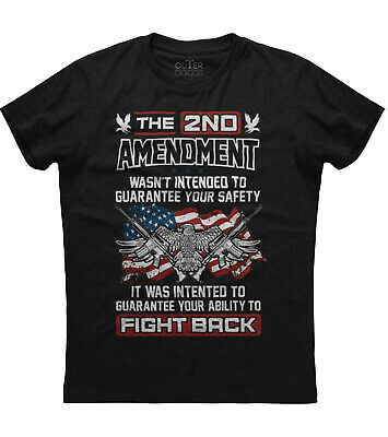 The 2nd Amendment Fight For Your Right New Men's Shirt Guns USA Flag Republicans