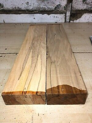 Small Boards 2Pcs Lot 934 Spalted Beech Woodturning Figured Timber Blank