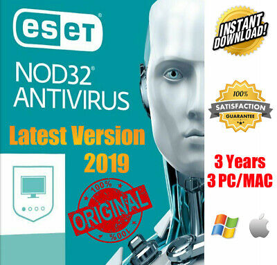 NOD 32 Antivirus 2019 3 PC 3 Year Global Key✔ Instant Download✔