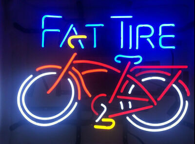 "New Fat Tire Belgian Neon Light Sign 17""x14"" Beer Cave Gift Lamp"