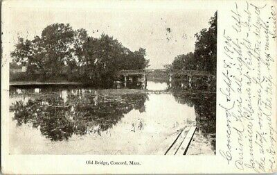 1905. Old Bridge, Concord, Mass. Postcard Sc20