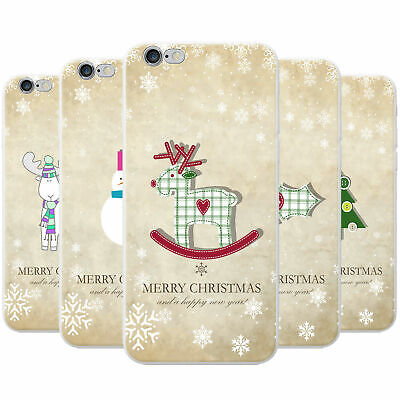 Christmas & New Year Wishes Snap-on Hard Back Case Phone Cover for Apple Phones