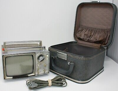 Vintage Sony Portable TV Television With Carry Case 5-303W 98855