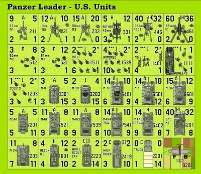 Avalon Hill's Panzer Leader Early German PV Variant Counters