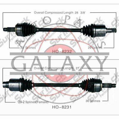 PAIR FRONT CV Axle Drive Shaft for HONDA ODYSSEY 07-10