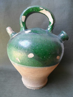 Popular Art Pottery Enamelled Antique Small Jug Deco Kitchen Countryside