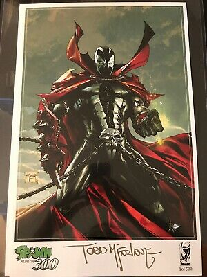 Spawn 300 GOLD SIG! TODD MCFARLANE PRINT/POSTER FAN EXPO EXCLUSIVE SIGNED /500!
