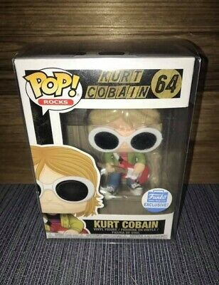 Funko Pop ROCKS! Kurt Cobain Funko Shop Exclusive W/ Soft Stack