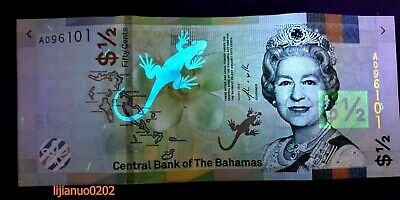 Bahamas 1/2 HALF DOLLARS FIFTY CENTS 2019 UNC BANKNOTE PAPIERGELD CURRENCY