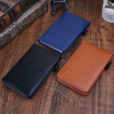 A7 Pocket Planner Notebook Notepad Note Book Leather Cover Business Diary Memos