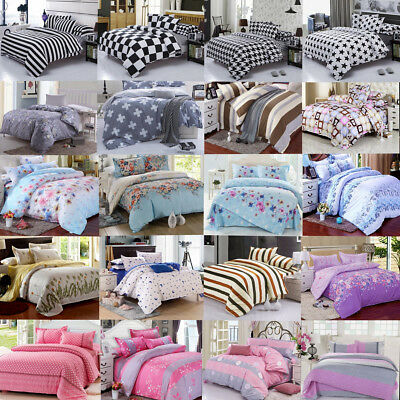 Modern Duvet Cover With Pillow Case Quilt Cover Bedding Single Double King Set !