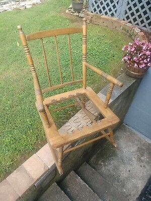 JUST MAKE OFFER - Antique Vintage Wooden Rocking Chair - Excellent Condition ***