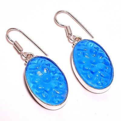 Chalcedony Carving .925 Silver  Charming Earrings Jewelry  R2080- R2121