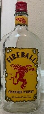 FIREBALL Whisky Cinnamon Whiskey Empty Collectors Edition Bottle 750 ML