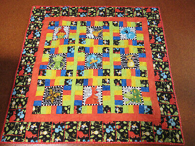 A Childs / Babies Quilt Cover 40 X 40 Cms. Animals