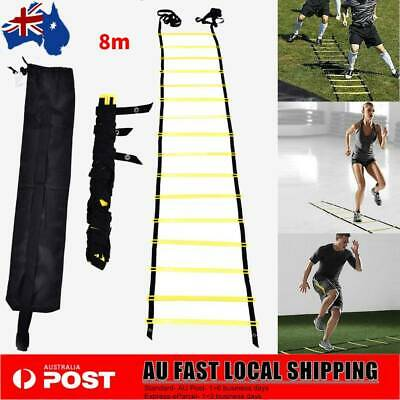 16 Rung 8M Fitness Equipment Soccer Football Speed Training Agility Ladder New