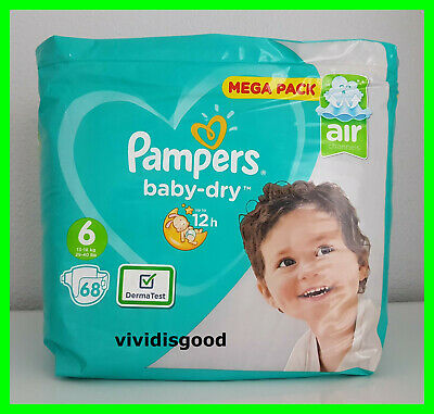 68 COUCHES PAMPERS BABY-DRY TAILLE 6 (13-18 kg)