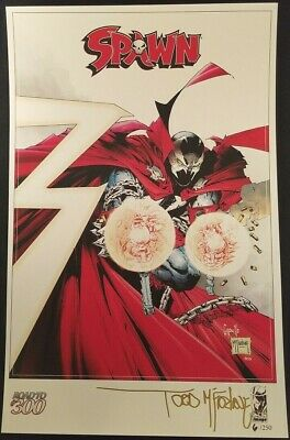 Spawn Road To 300 Exclusive Greg Capullo Print Signed Todd Mcfarlane Image 6/250