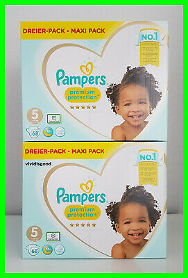 LOT DE 136 (2x68) COUCHES PAMPERS PREMIUM PROTECTION TAILLE 5 (11-16 kg)