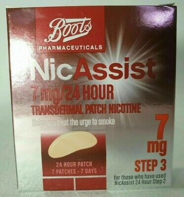 NICASSIST 7mg Patch - Step 3 X 7 Patches (same manufacturer as Nicotinell )