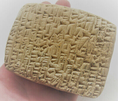 Circa 3000Bc Ancient Near Eastern Clay Tablet With Early Form Of Writing Rare