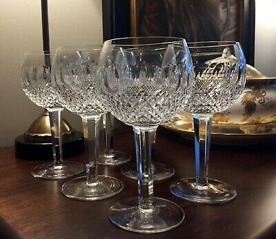 """Vintage (1953-) Colleen Oversize 7-3/4"""" Tall, 3.5"""" Rim Waterford Wine Glass"""