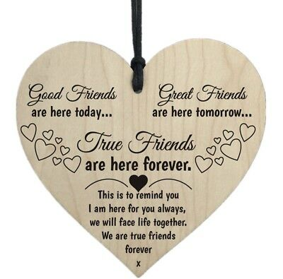 Special Friendship Wooden Shabby Chic Leaving Gift Plaque Card Quote Thank You