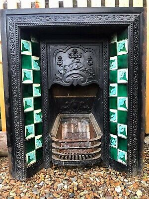 Victorian Cast Iron Fireplace with Slate (Marble Effect) Surround