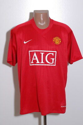Manchester United 2007/2008/2009 Home Football Shirt Jersey Nike Size Xl Adult