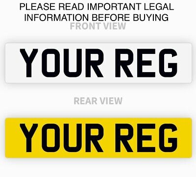 Pair Premium MOT Road Legal Car Van Reg Registration Number Plates Free Shipping