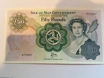 Isle of Man £50 BankNote in Mint Condition Uncirculated Note