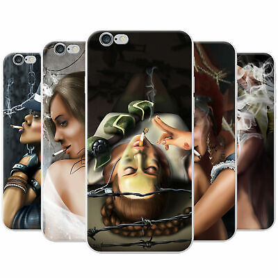 Attractive Beautiful Women Smoking Snap-on Hard Case Phone Cover for Sony Phones
