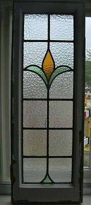 Frame 341 x 960mm. Stained glass leaded light window sash. R947b