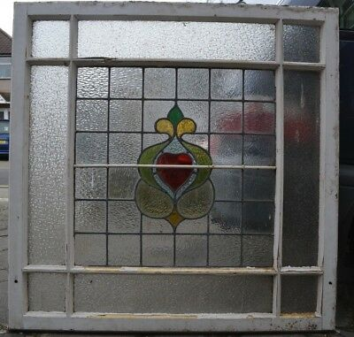 Huge Edwardian skylight leaded stained glass window sash. B759. DELIVERY!
