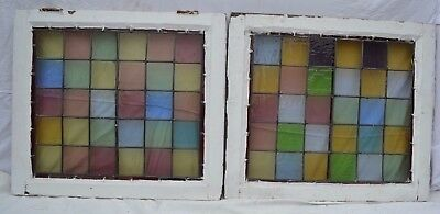2 British leaded light stained glass window sashes. R645a. NATIONWIDE DELIVERY!