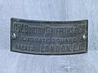 Antique Bronze Nameplate Burton Griffiths & Co Ludgate Sq London EC; Later BSA