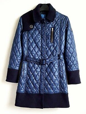 Fay By Tods Girls Navy Quilted Coat Age 10 Rarely Worn Rrp £295