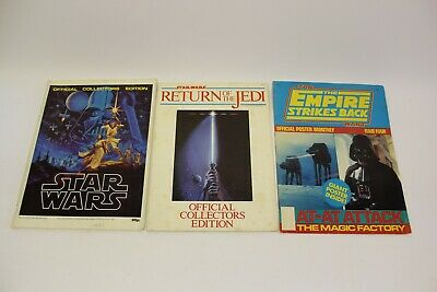 Star Wars 1977 Magazines Official Collectors Editions Poster Magazine