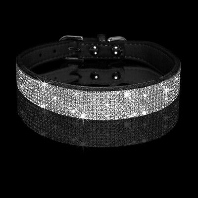 Rhinestone Pet Small Dog Collar Puppy Necklace Bling Crystal Adjustable XS S M L