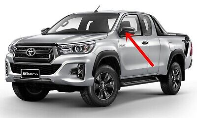 compatible TOYOTA HILUX Wing Mirror Glass Silver Frosted Etched Car Vinyl Decal
