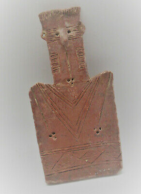 Scarce Circa 2300-1800Bce Ancient Bronze Age Cypriot Redware 'Plank' Type Idol