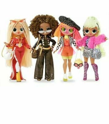 LOL SURPRISE OMG DOLLS Set of 4 Swag Lady Diva Royal Bee Neonlicious IN HAND!!!