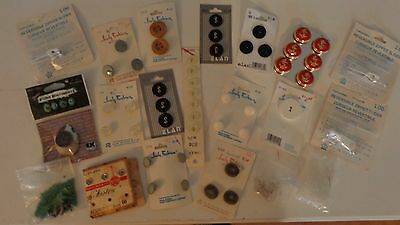 Lot Of New Cards Mixed Vintage Buttons Snaps Sewing Craft Beads Zipper Pulls