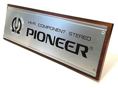 Vintage 1980's NOS PIONEER HI-FI  COMPONENT STEREO Store Display Audiophile Sign