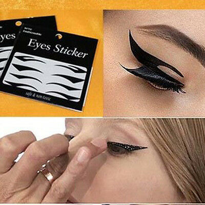 8 Pairs Beautiful Temporary Eye Tattoo Transfer Eyeshadow Eyeliner Stickers A9FE