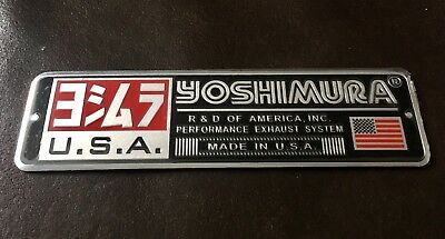 YOSHIMURA USA 3D Motorcycle Exhaust Heat Resistant Sticker Decal Aluminium Bike