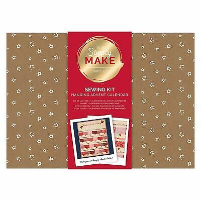 Simply Make by docrafts - Create Your Own Hanging Advent Calendar Sewing Kit